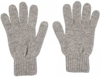 Graham Cashmere - Womens Pure Cashmere Classic Gloves - Made in Scotland - Gift Boxed (Light Grey Marl)(Size: One Size)