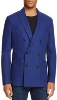 Canali Double-Breasted Micro Check Regular Fit Jacket