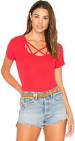 Michael Lauren King Strappy Tee in Red. - size L (also in M,S,XS)