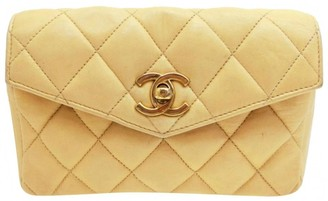 Chanel Timeless/Classique Beige Leather Clutch bags