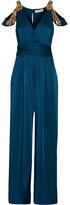 Rachel Zoe Cora Embellished Satin Jumpsuit - US4