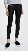 Blank Black Vegan Leather Moto Pants