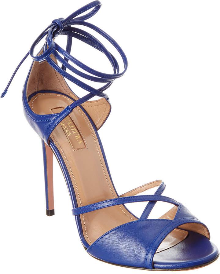 Aquazzura Nathalie 105 Leather Sandal