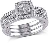 Ice Julie Leah 1/3 CT TW Diamond Bridal Set in 10K Polished White Gold
