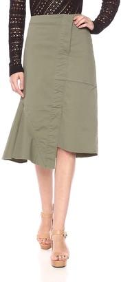 Theory Women's RECONSTRUCTED MIDI Skirt