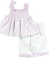 Kissy Kissy 2 Piece Capri Pant Set W/ Top (Baby) - Pink - 9 Months