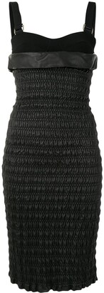 Proenza Schouler Smocked Leather Dress