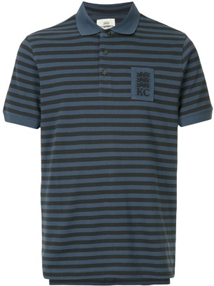 Kent & Curwen striped shortsleeved polo shirt