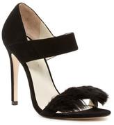 Karen Millen Faux Fur Trim Sandal