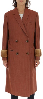 Fendi Double Breasted Trench Coat