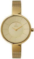Obaku Ladies' Yellow Gold Plate Mesh Bracelet Watch