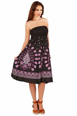Pistachio Womens Floral and Paisley Print 2 in 1 Dress - Black - 8/10 UK-S