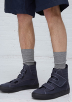 Raf Simons grey high top velcro sneaker