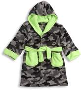 MINIKIDZ Kids Boys Infant Camo Bath Robe (Sizes 2-6 Years) Plush Army Night Gown