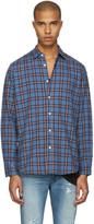 Saint Laurent Blue Check Shirt