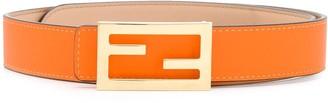 Fendi leather FF Baguette buckle belt