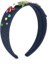 Dolce & Gabbana embellished headband - kids - Cotton/Polyester/Spandex/Elastane - One Size