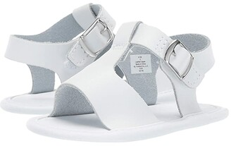 Baby Deer Leather T-Strap Sandal - Waddle (Infant) (White) Girl's Shoes