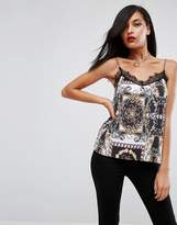 Asos Cami with Lace Trim in 80s Chain Print