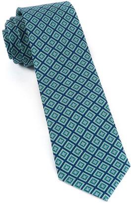 Tie Bar Silk Squarework Navy Tie