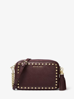 MICHAEL Michael Kors Jet Set Medium Studded Leather Camera Bag