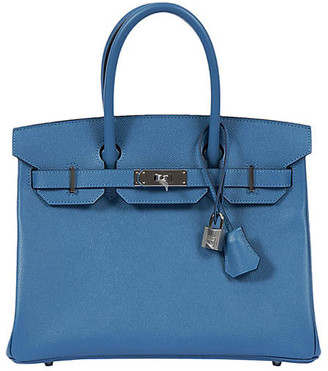 One Kings Lane Vintage Hermes 30cm Blue Azur/Palladium Birkin - Vintage Lux