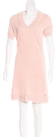 Chanel Striped Mini Dress