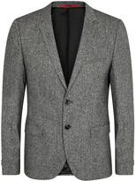 Hugo Arti Herringbone Wool Blend Blazer