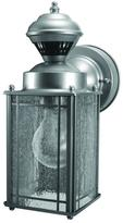 Heath Zenith Shaker Cove Mission 150 Degree Silver Motion Sensing Outdoor Lantern