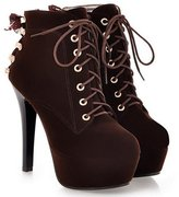 YINHAN Women's Platform Pumps Lace up Stiletto High Heels Shoes 36