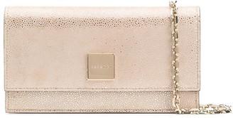Casadei logo-plaque clutch bag
