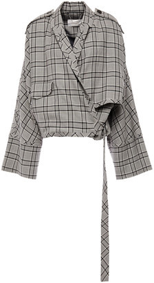 Zimmermann Oversized Prince Of Wales Checked Wool Jacket