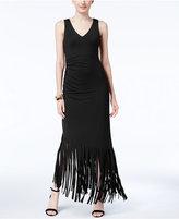 INC International Concepts Fringe-Trim Maxi Dress, Only at Macy's