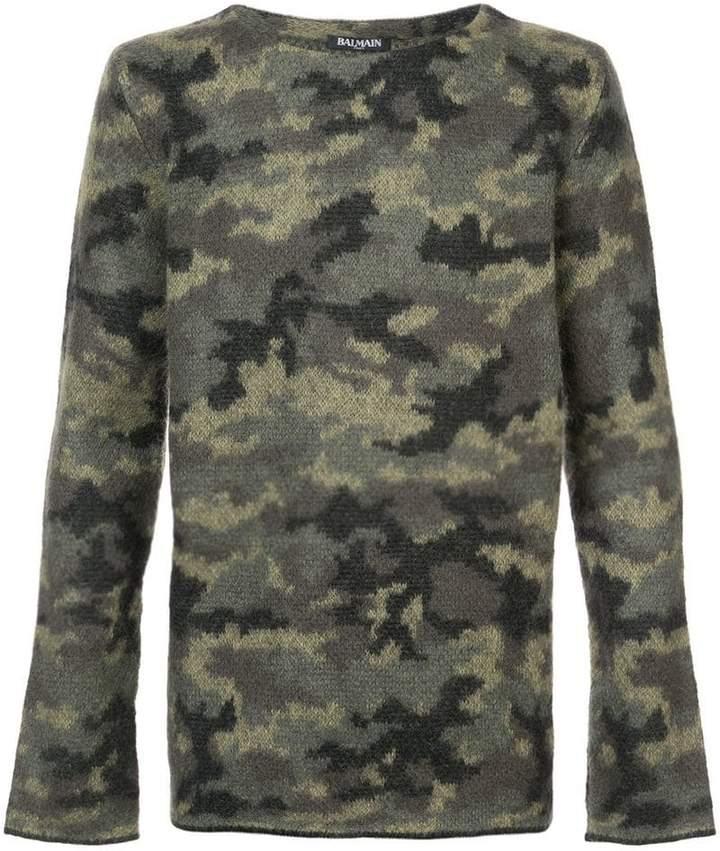 Balmain camouflage jumper