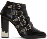 Toga Pulla Black Heeled Five-buckle Western Boots