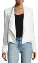 Alice + Olivia Claude Open-Front Shawl-Collar Blazer, White