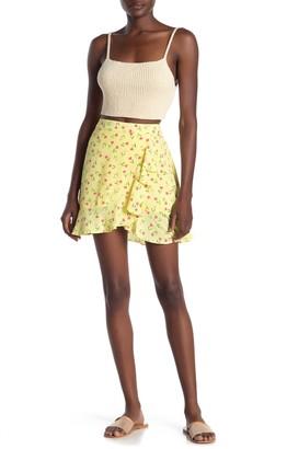 Abound Ruffle Trim Faux Wrap Mini Skirt