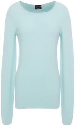 Giorgio Armani Ribbed Stretch-knit Sweater