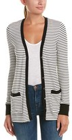 Three Dots Ribbed Cardigan.