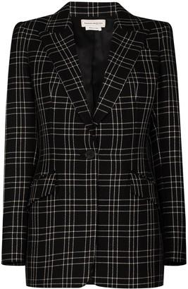 Alexander McQueen Checked Pattern Blazer