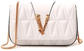 Versace Virtus Quilted Evening Clutch Bag