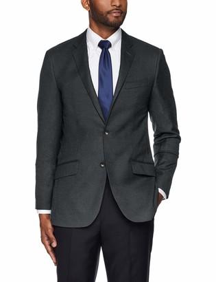 Buttoned Down Men's Slim Fit Super 110 Italian Wool Hopsack Blazer Suit Jacket