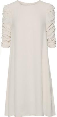 Zimmermann Rouche Shift Textured-crepe Mini Dress