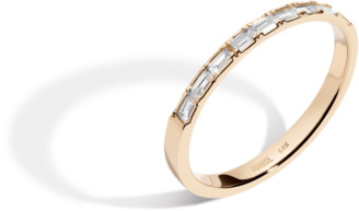 AUrate New York Half Diamond Baguette Ring