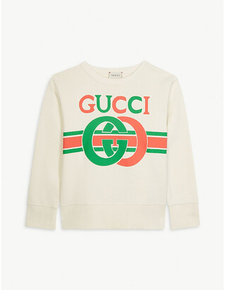 Gucci GG logo cotton jumper 4-10 years