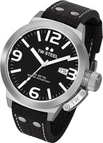 TW Steel Men's TW22N Canteen Black Leather Black Dial Watch