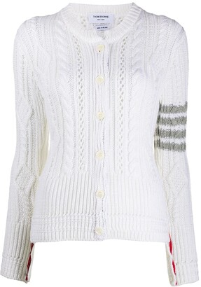 Thom Browne Aran cable knit cardigan