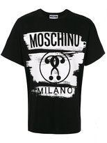 Moschino brush stroke print T-shirt - men - Cotton - 44