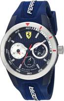 Ferrari Men's 'RedRevT' Quartz Stainless Steel and Rubber Casual Watch, Color: (Model: 830436)