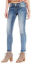 Miss Me Embellished Pocket Stretch Skinny Jeans